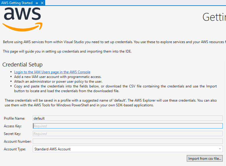AWS Project Credentials