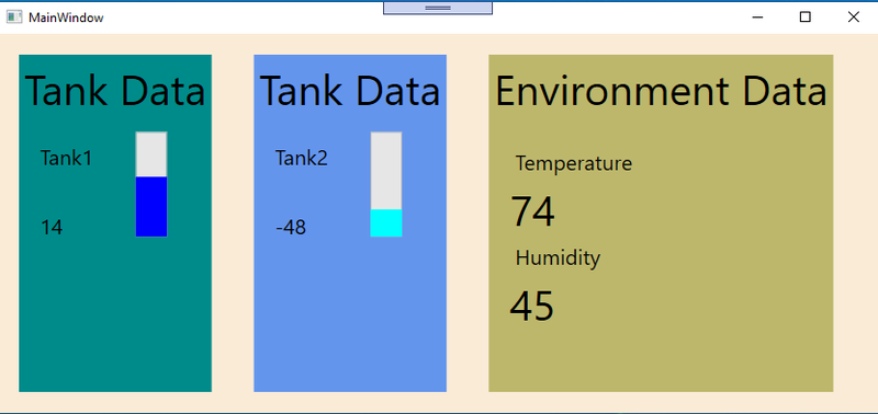 Screenshot of the application running