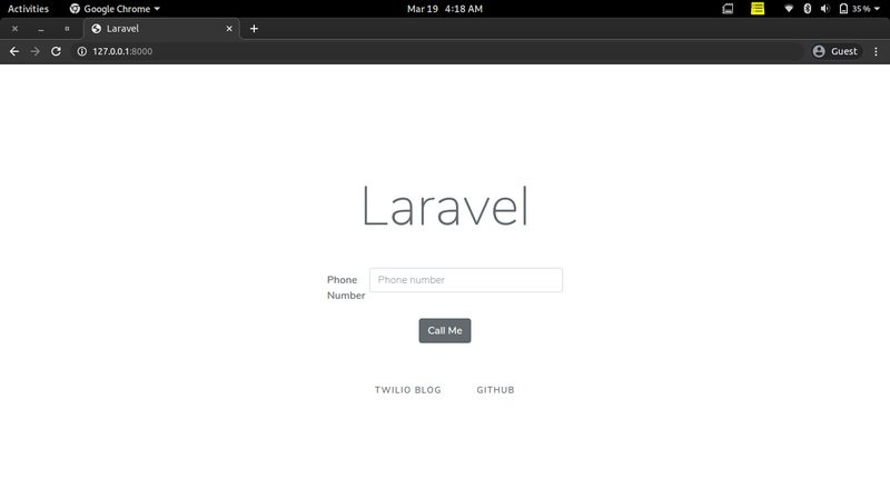 Laravel Click-to-call Application