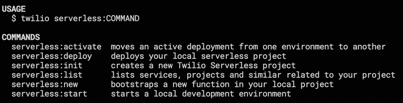 Twilio CLI Plug-in architecture