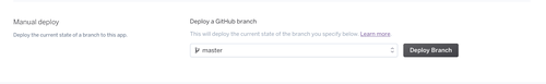 Deploying from a branch to Heroku