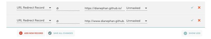 Additional DNS entries