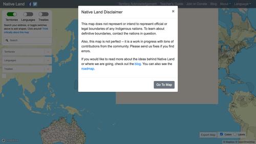 Disclaimer screenshot