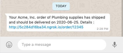 whatsapp notification demo