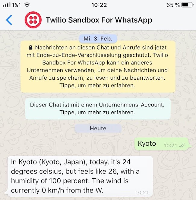 Send a message to the PHP/Mezzio chatbot and receive a response back