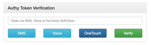 authy token verification screenshot