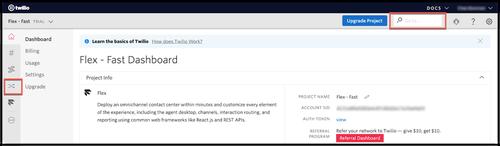 Sélection du Task Router dans la console Twilio
