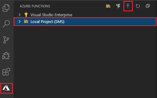 click deploy icon