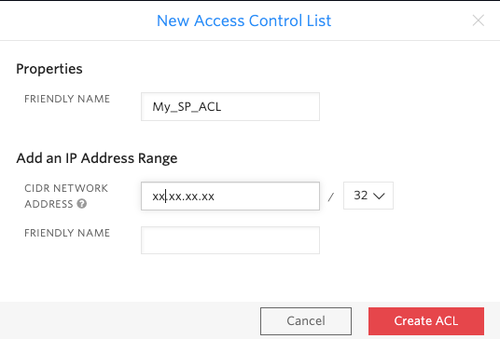 Create a new access control list.