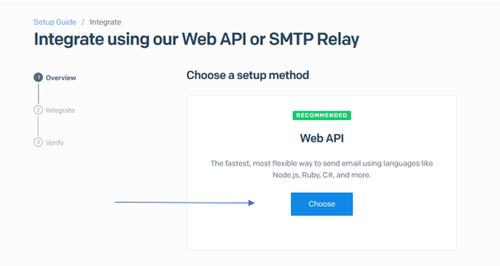 web api setup method