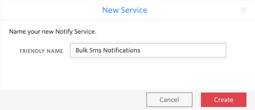 create a new notify service