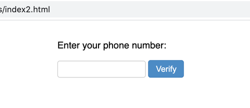 phone number input field that has no special formatting