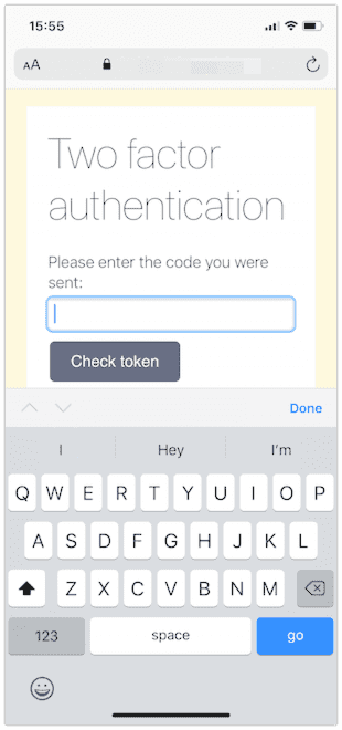 authentication with iOS Safari
