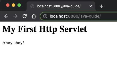 The HTTP servlet-based application running in Google Chrome