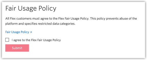 Twilio Fair Usage Policy popup