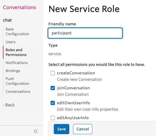 Create a new service role