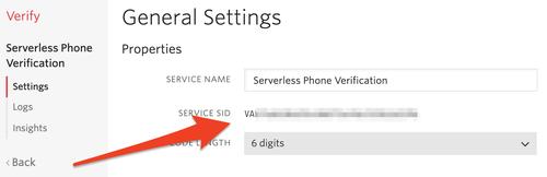 Verify Service SID