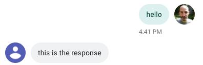 Resposta do Flask via Ngrok