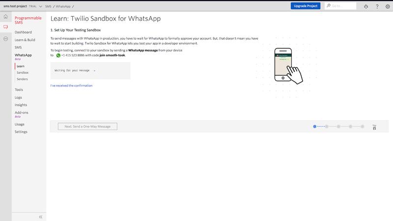 Twilio WhatsApp Sandbox