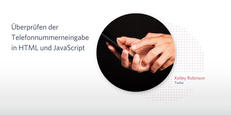 Überprüfen der Telefonnummerneingabe in HTML und JavaScript