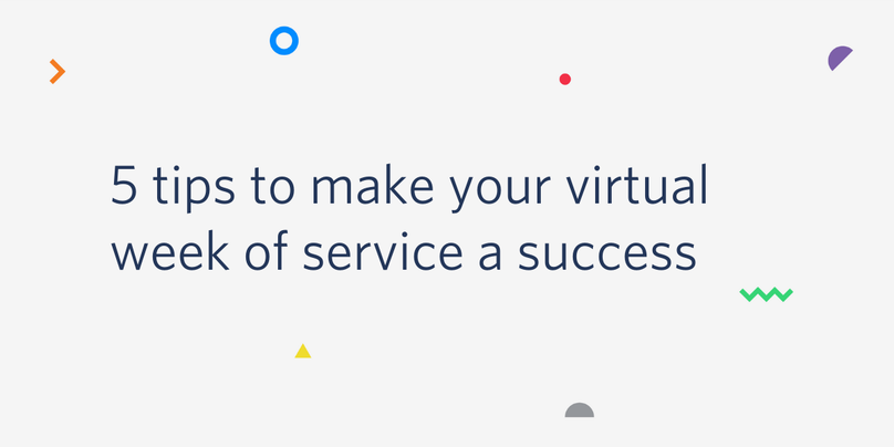 5 tips to make your virtual week of service a success