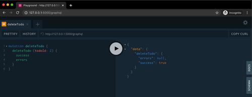 GraphQL deleteTodo query