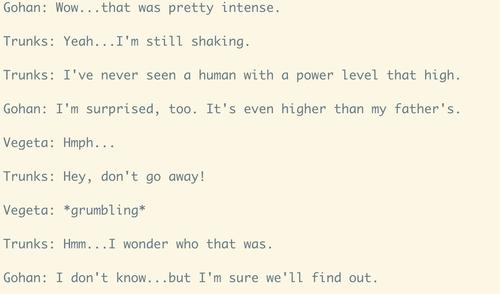Gohan and Trunks sense a high power level