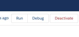 The debug button