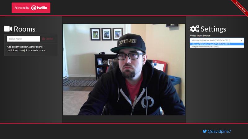 VideoChat application screenshot