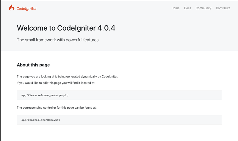 CodeIgniter Homepage