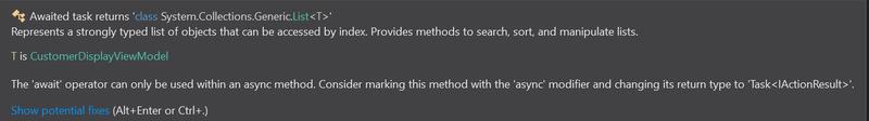 Visual Studio 2019 tool tip screenshot