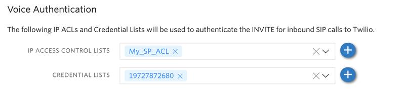 Update Voice Authentication ACLs.