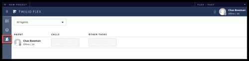 sélection d'agents dans l'interface Flex
