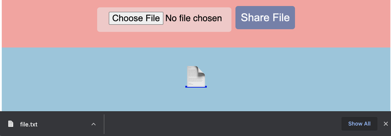 """File emoji in blue """"files"""" section at the bottom of the screen."""