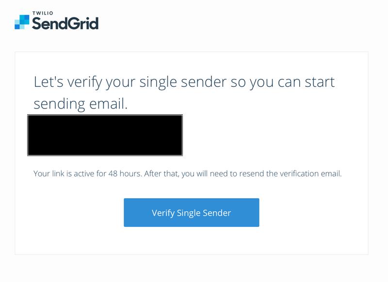 Verify SendGrid sender