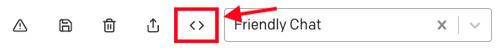 Botón Export code