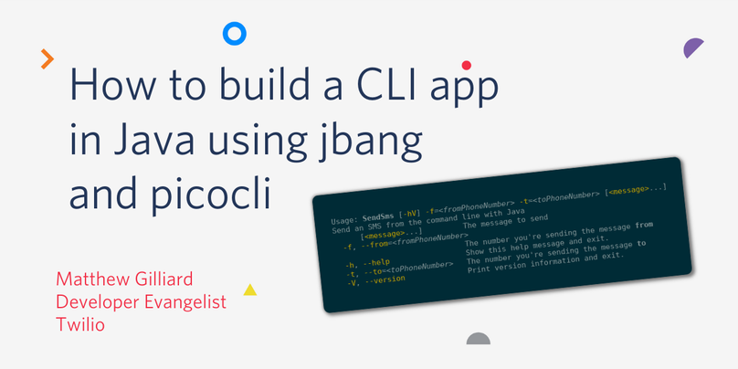 Title card: How to build a CLI app in Java using jbang and picocli