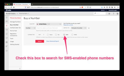 buy a twilio phone number