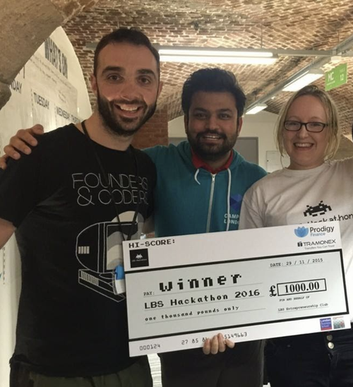 Winning a hackathon with fellow bootcamp students
