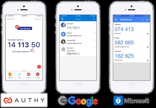 Authy, Microsoft, Google authenticators compared