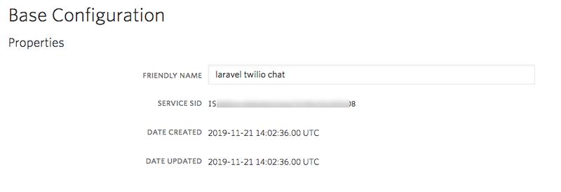 Chat service configuration