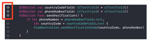 xcode ibaction