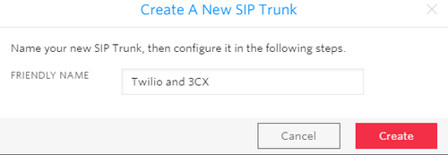 create a new sip trunk