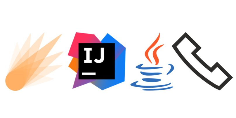 Spark, IntelliJ, Java and Twilio Voice logos