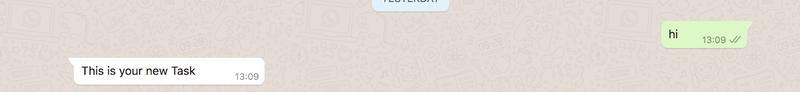 WhatsApp sample AI response