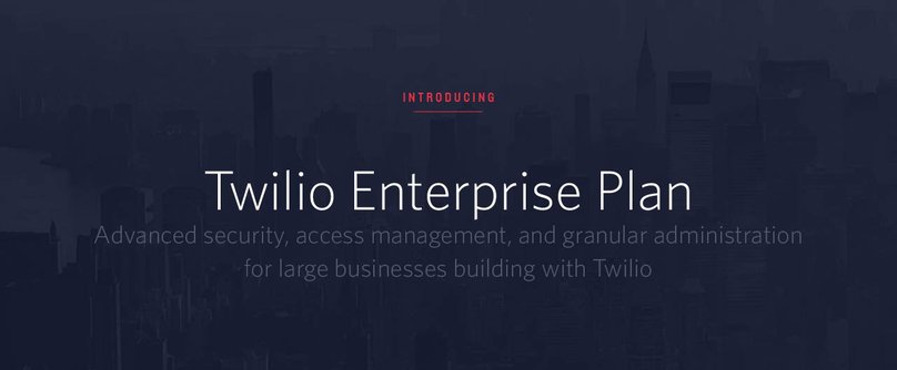 Twilio Enterprise Plan