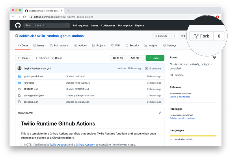 Fork Repository on GitHub