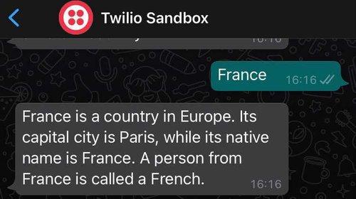 Webhook response - France