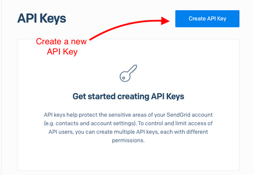 Create SendGrid API key