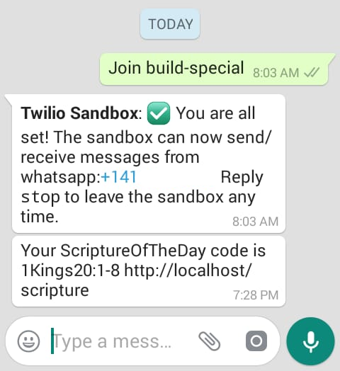 WhatsApp thread
